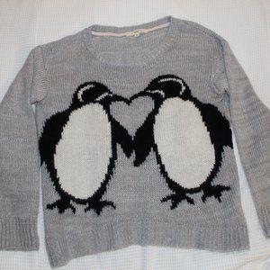 Penguin heart sweater by Rewind